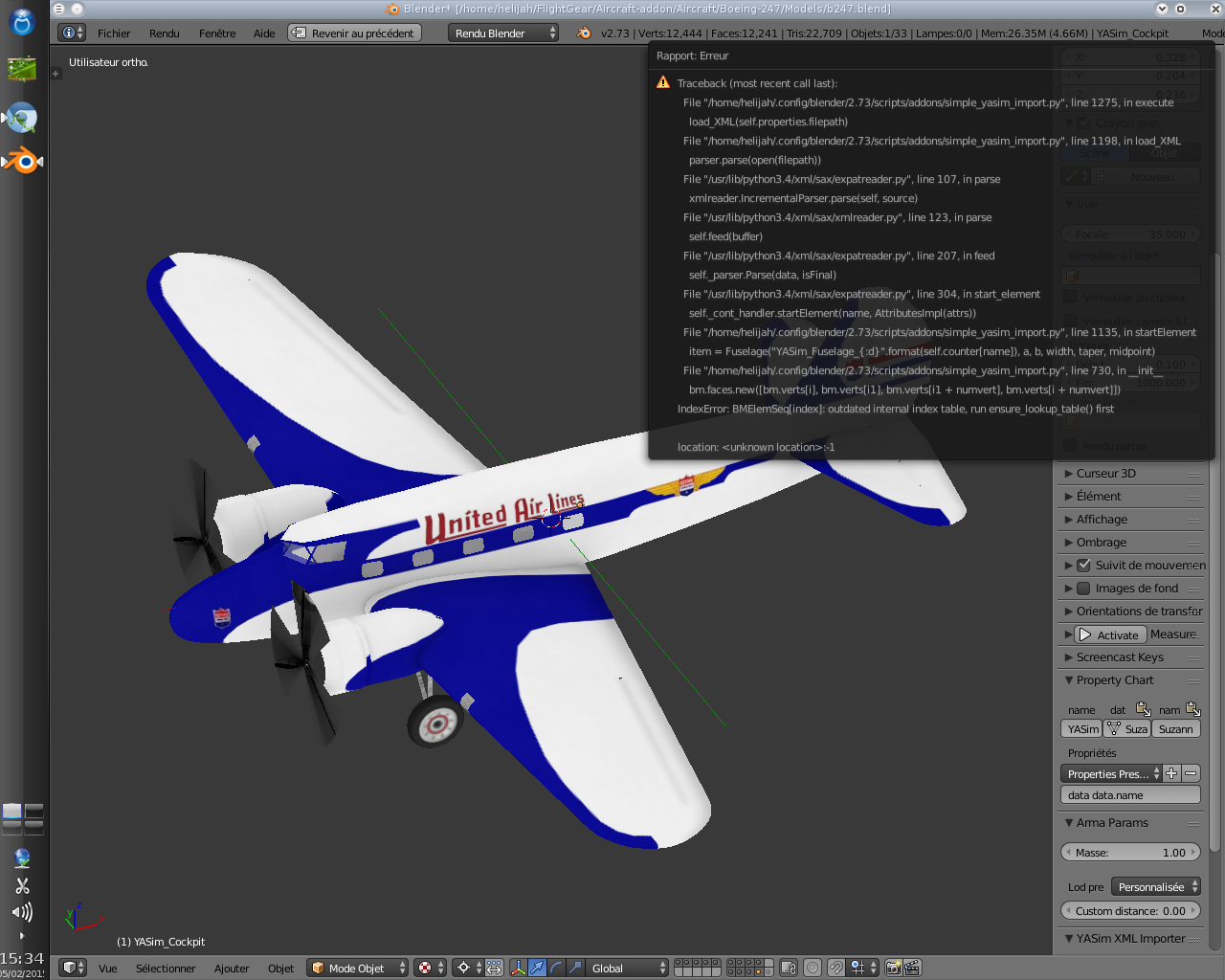 FlightGear forum • View topic - YASim Importer for Blender