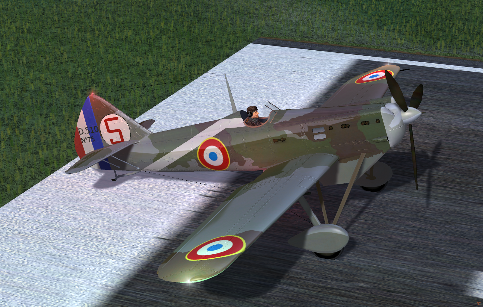 Avion pour la patrouille D510