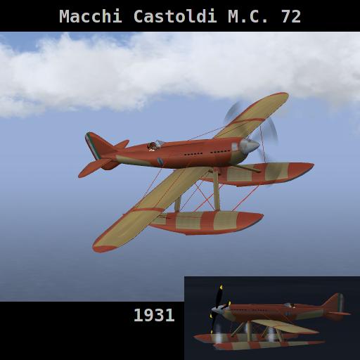 Macchi Castoldi M.C. 72 Mc72-splash